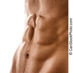 Sexy body of naked muscular man