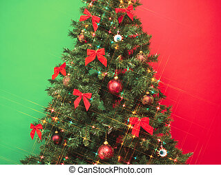 cropped image of christmas tree