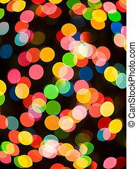 defocussed light - Colorful defocussed light at night.