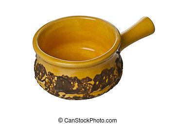 dirty ceramic bowl