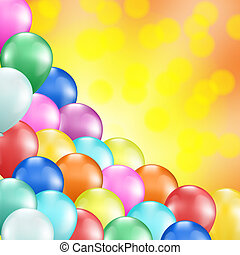colorful balloons holiday background - colorful balloons as...