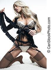 Bikini Fashion Model Isolated on white background Fashion...