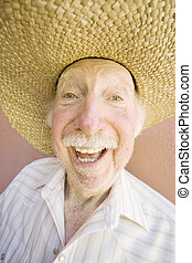 Senior Citizen Man in a Cowboy Hat
