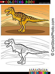 tarbosaurus dinosaur for coloring book - Cartoon...