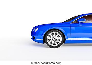 modern sport car - Modern sport car over white