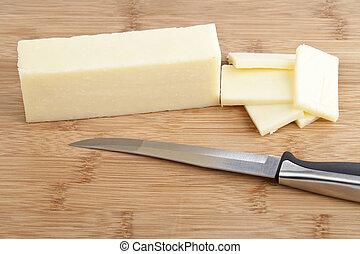 mozzarella cheese block