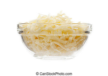 mozzarella cheese on bowl