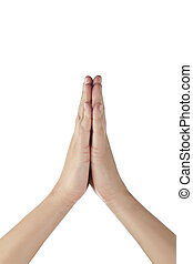 orando, gesto