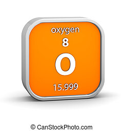 Oxygen material sign - Oxygen material on the periodic...