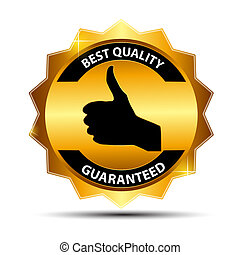 Vector best choice gold  label.