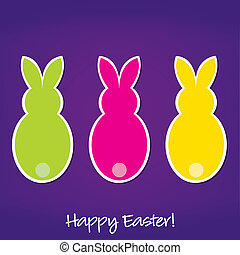 Happy Easter - Easter Bunny card in vector format
