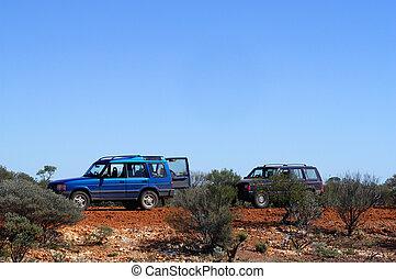 4x4 in the Australian bush