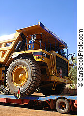 delivery of a truck for a goldmine