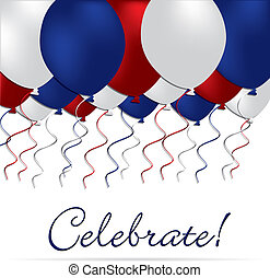 Happy 4th July! - Celebrate independence Day balloon card in...