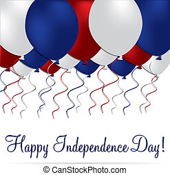 Happy 4th July! - Happy independence Day balloon card in...