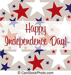 Happy 4th July! - Independence Day greeting card in vector...