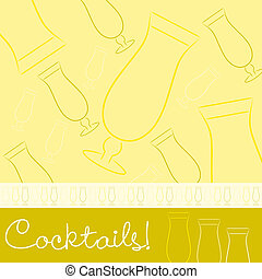 Cocktails - Hand drawn cocktail card in vector format