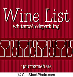 Wine List - Retro inspired wine list with a modern touch in...