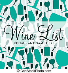 Wine List - Modern wine list with a retro touch in vector...