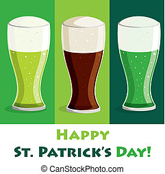 Happy St Patricks Day - Happy Saint Patricks Day beer card...