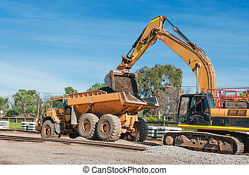 railway track preparation for modernization - image of...