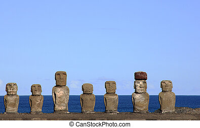 Moai at Ahu Tongariki,Easter Island