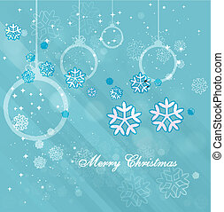 christmas Snowflakes blue colorful vector background