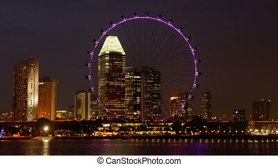 Singapore Flyer - time-lapse