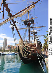 Spanish Galleon in Alicante harbor