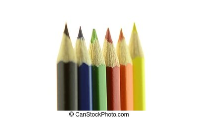 Top of color pencils