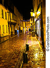 Christmas night in Bayeux Normandy, France
