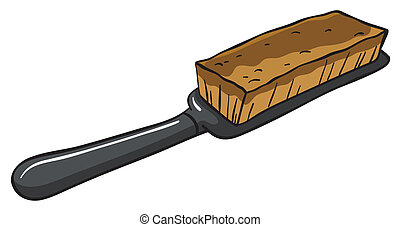 An all-purpose brush - Illustration of an all-purpose brush...