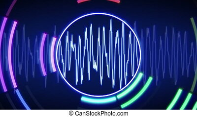 waveform technology loop animation - waveform animation....