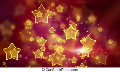 orange star shape lights loop - orange star shape bokeh...