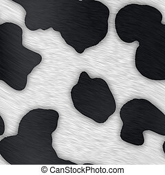 Dairy Cow Print - The natural pattern of a common black and...