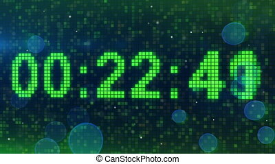 countdown digital timer animation