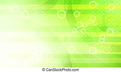 green shiny circles loop