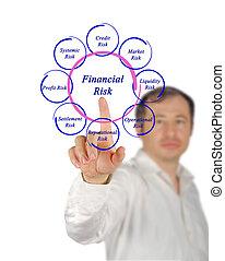 diagrama, financeiro, riscos