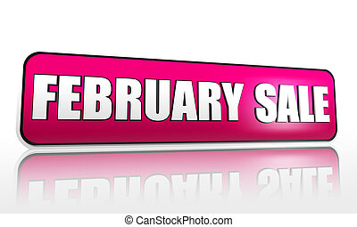 february sale purple banner - february sale - 3d purple...
