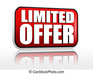 limited offer -  red banner