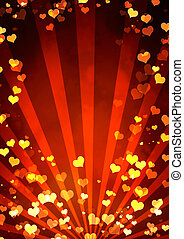 Valentine background - Vertical valentine background with...