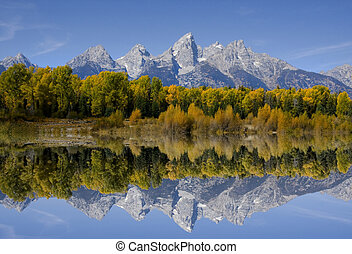 Grandiose, teton, national, Parc