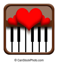 Hearts on piano