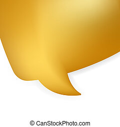 Golden shiny modern speech bubble. EPS 8 vector file...