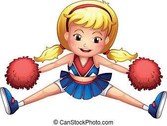 An energetic cheerleader - Illustration of an energetic...