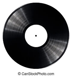 Vinyl record - Black vinyl record isolated on white...