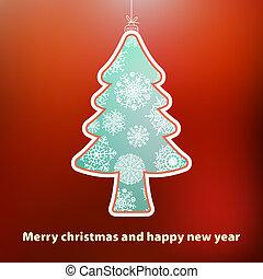 Christmas card with tree.  + EPS8