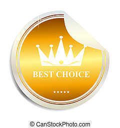 Vector Best choice label  sticker
