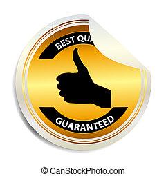 Vector Best choice label  sticker