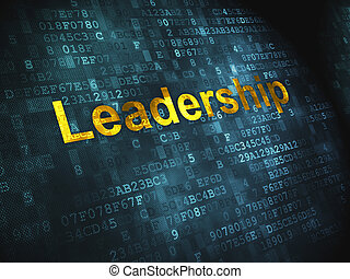 Business concept: Leadership on digital background -...
